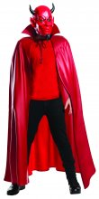 Red Devil Deluxe 3/4 Mask and Cape Set