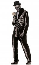 Skeleton Print Halloween Adult Men's Costume STD, XL, XXL