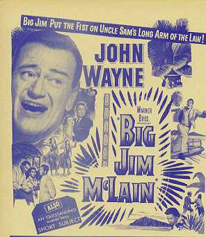 BIG JIM McLAIN Johyn Wayne, James Arness - Click Image to Close
